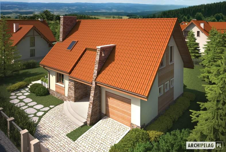 Projekt domu Basia G1 - widok z góry