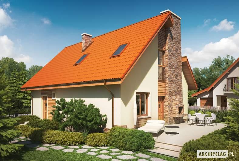 Projekt domu Basia G1 - wizualizacja ogrodowa