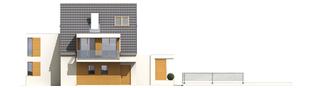 Projekt domu Damian G2 - elewacja lewa