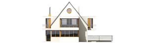 Projekt domu Damian G2 - elewacja tylna