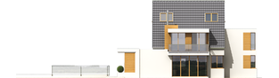 Projekt domu Damian G2 - elewacja prawa