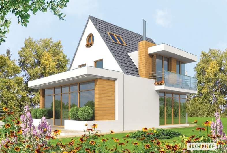 Projekt domu Damian G2 - wizualizacja ogrodowa