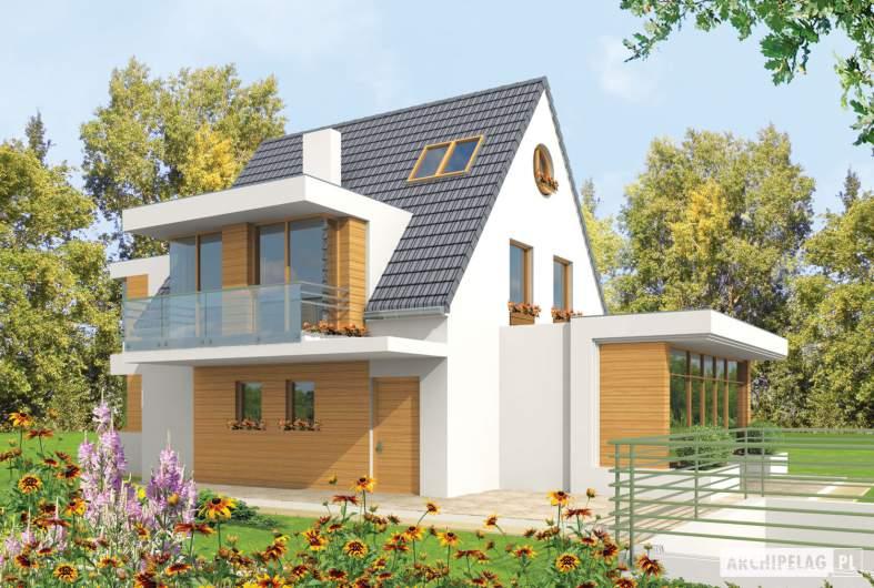 Projekt domu Damian G2 - wizualizacja frontowa