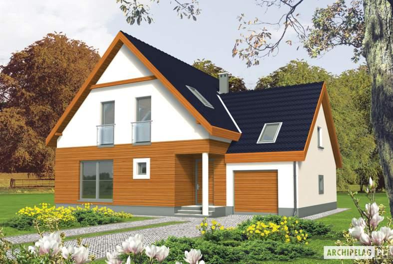 Projekt domu Fabrycja II G1 - wizualizacja frontowa