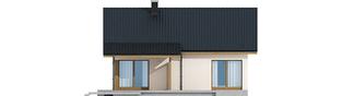 Projekt domu Elmo III ENERGO - elewacja tylna
