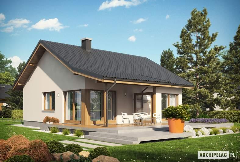 Projekt domu Elmo III ENERGO - wizualizacja ogrodowa