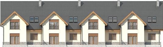 Samba G1 - Projekty domów ARCHIPELAG - Samba G1 - elewacja tylna
