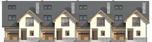 Projekt domu Samba G1 - elewacja frontowa