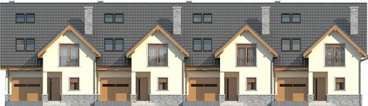 Samba G1 - Projekty domów ARCHIPELAG - Samba G1 - elewacja frontowa