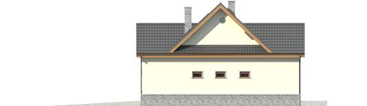 Samba G1 - Projekty domów ARCHIPELAG - Samba G1 - elewacja prawa