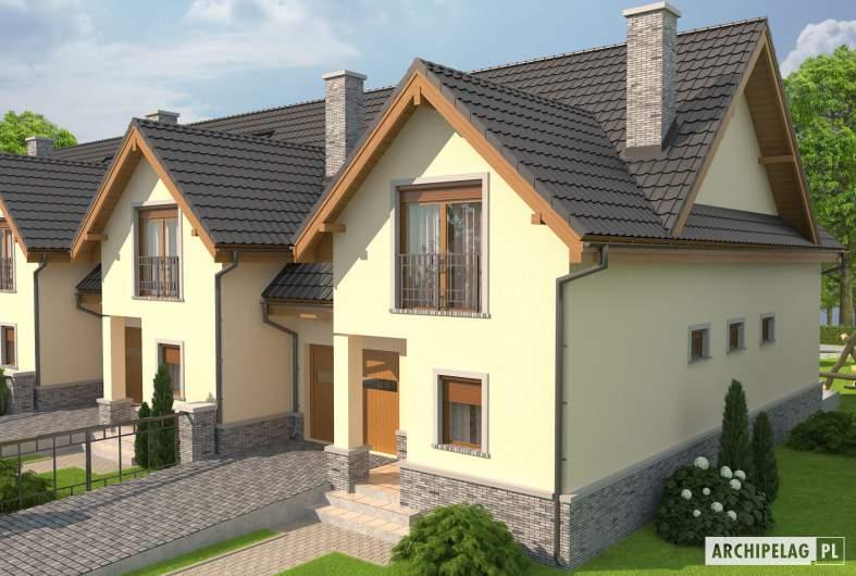 Projekt domu Samba G1 - Projekty domów ARCHIPELAG - Samba G1 - wizualizacja frontowa