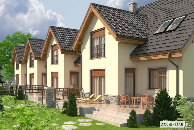 Projekt domu Samba G1 - Projekty domów ARCHIPELAG - Samba G1 - wizualizacja ogrodowa