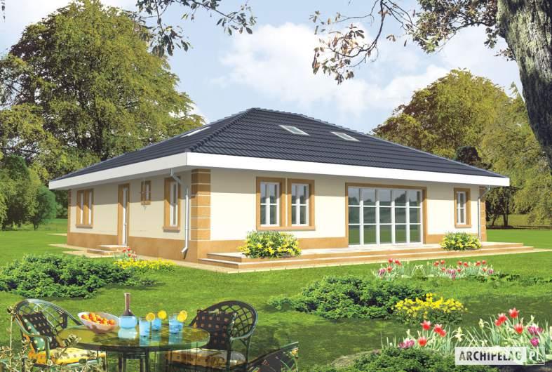 Projekt domu Linda G1 - wizualizacja ogrodowa