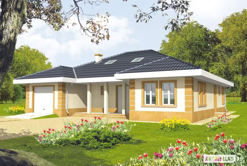 Projekt domu Linda G1 - wizualizacja frontowa
