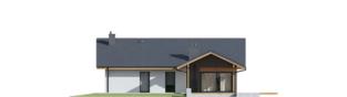 Projekt domu Mini 4 w. II - elewacja tylna