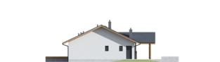 Projekt domu Mini 4 w. II - elewacja prawa