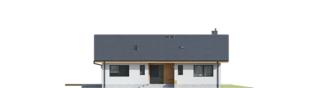 Projekt domu Mini 4 w. II - elewacja frontowa