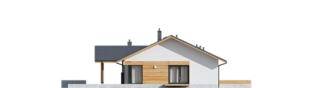 Projekt domu Mini 4 w. II - elewacja lewa