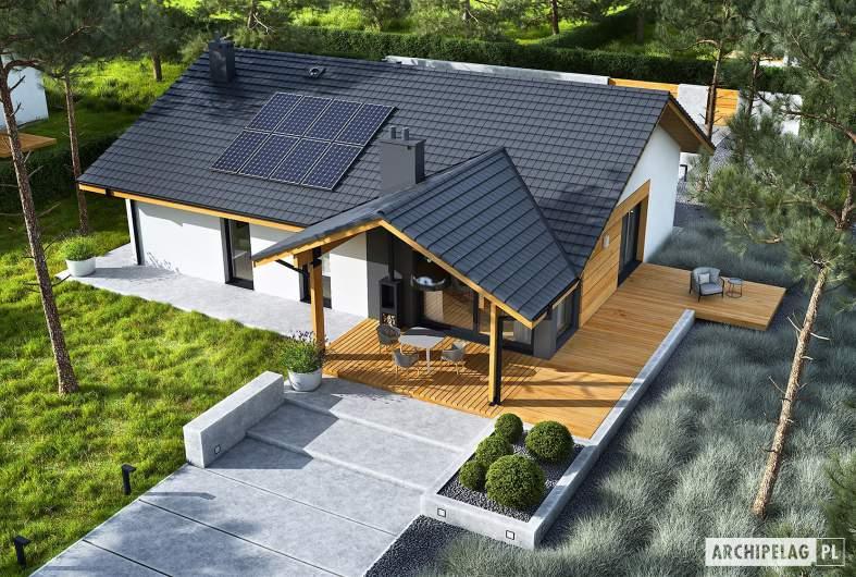 Projekt domu Mini 4 w. II - widok z góry