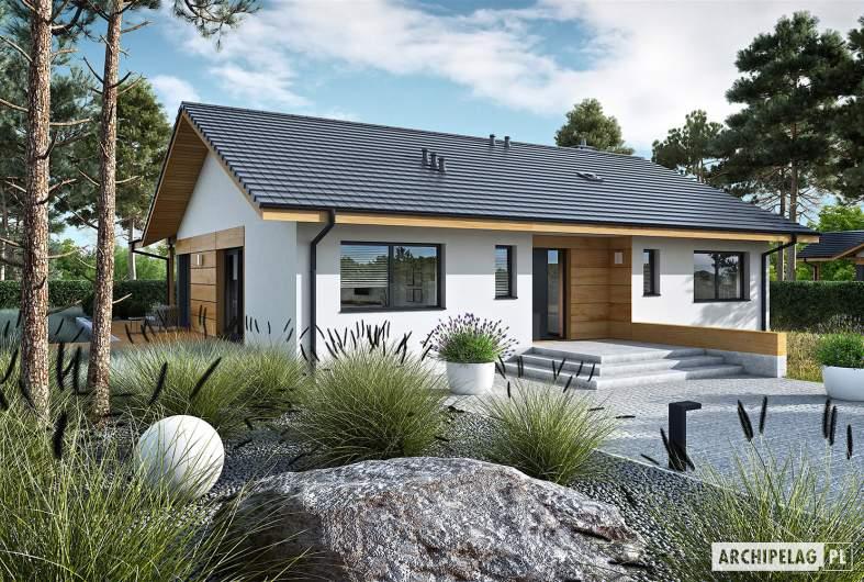 Projekt domu Mini 4 w. II - wizualizacja frontowa