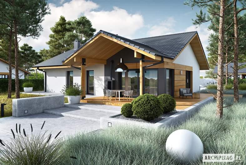 Projekt domu Mini 4 w. II - wizualizacja ogrodowa