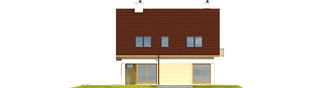 Projekt domu Tim III Mocca - elewacja tylna