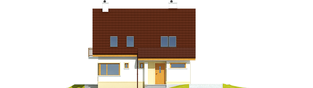 Projekt domu Tim III Mocca - elewacja frontowa