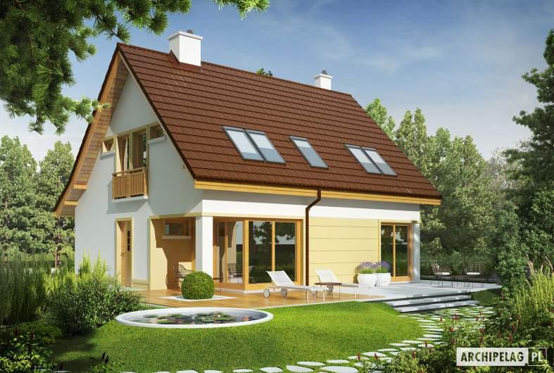 Projekt domu Tim III Mocca - wizualizacja ogrodowa