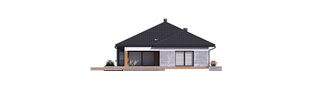 Projekt domu Karen G2 - elewacja tylna