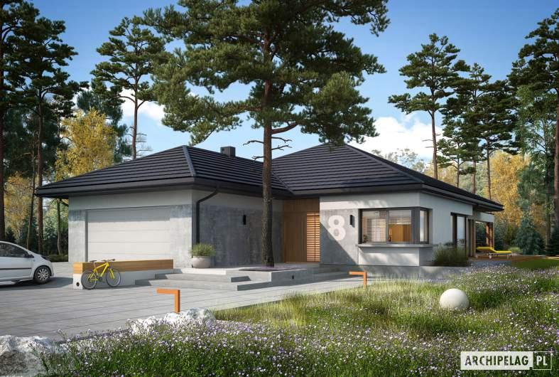 Projekt domu Karen G2 - wizualizacja frontowa