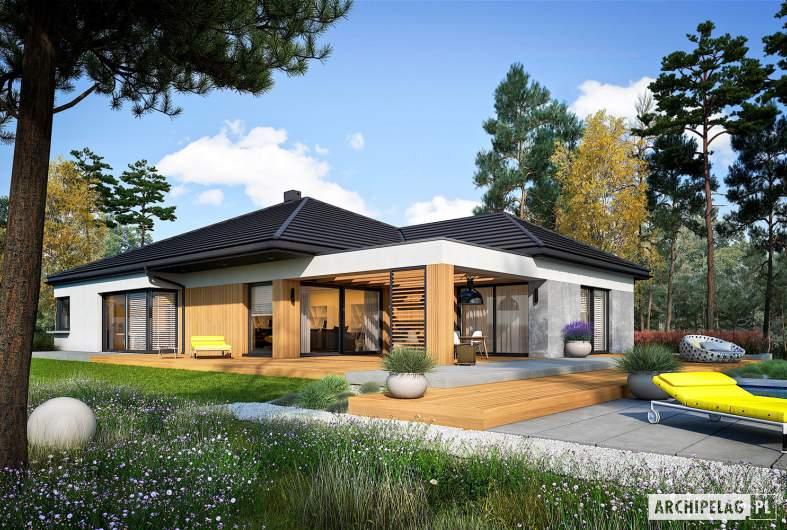 Projekt domu Karen G2 - wizualizacja ogrodowa
