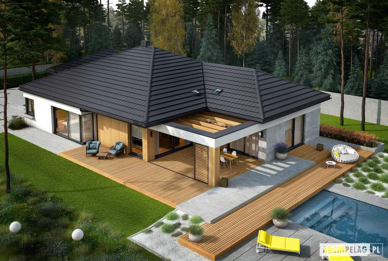 Projekt domu Karen G2 - widok z góry