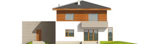Projekt domu Dao G2 - elewacja tylna