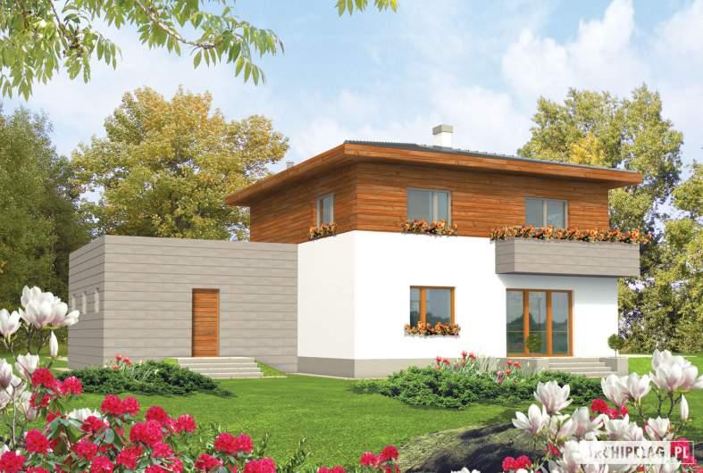 Projekt domu Dao G2 - wizualizacja ogrodowa
