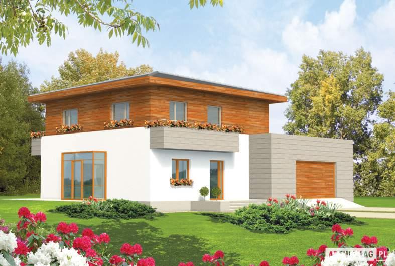 Projekt domu Dao G2 - wizualizacja frontowa