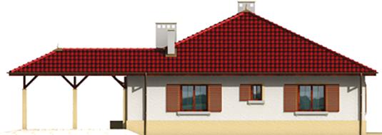 Pauline - Projekt domu Paulina (z wiatą) - elewacja prawa