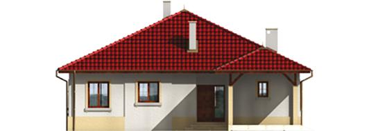 Pauline - Projekt domu Paulina (z wiatą) - elewacja frontowa