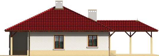 Pauline - Projekt domu Paulina (z wiatą) - elewacja lewa
