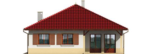 Pauline - Projekt domu Paulina (z wiatą) - elewacja tylna