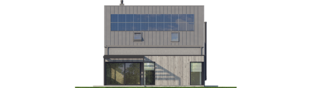 Projekt domu Mini 13 - elewacja tylna
