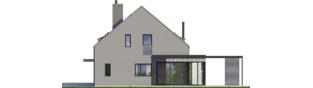 Projekt domu Mini 13 - elewacja prawa