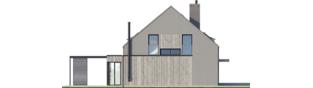 Projekt domu Mini 13 - elewacja lewa
