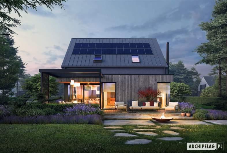 Projekt domu Mini 13 - wizualizacja nocna