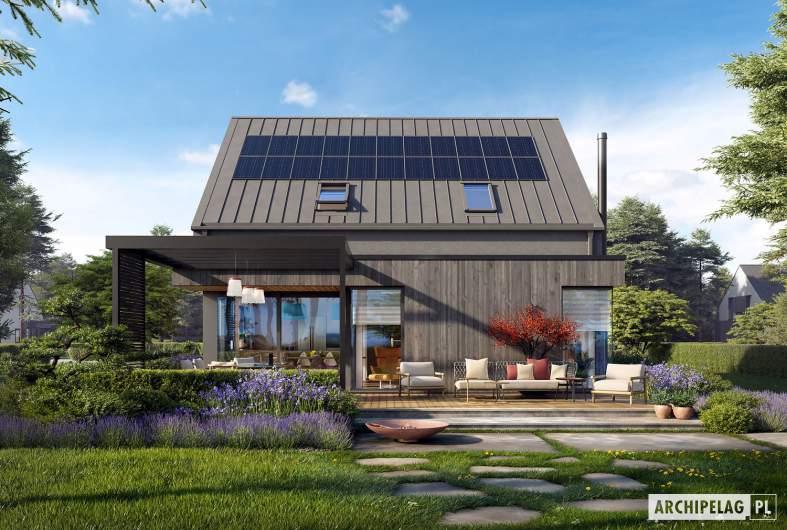 Projekt domu Mini 13 - wizualizacja ogrodowa