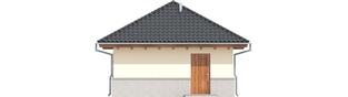 Projekt domu Garaż G18 - elewacja tylna