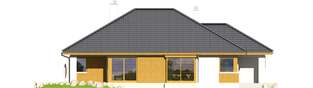 Projekt domu Glen G1 - elewacja lewa