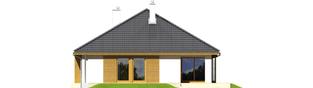 Projekt domu Glen G1 - elewacja tylna