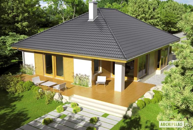 Projekt domu Glen G1 - widok z góry