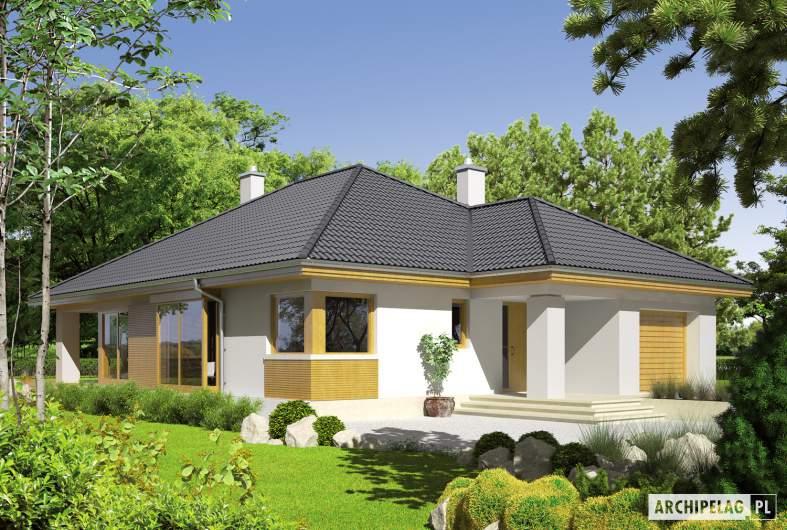 Projekt domu Glen G1 - wizualizacja frontowa