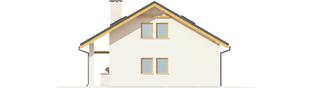 Projekt domu Garaż G31 (z wiatą) - elewacja lewa